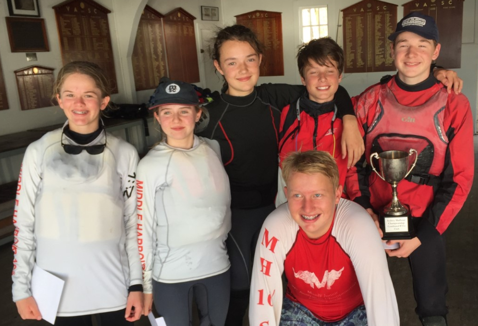Middle Harbour Junior Sailors win the Sheerline Cup