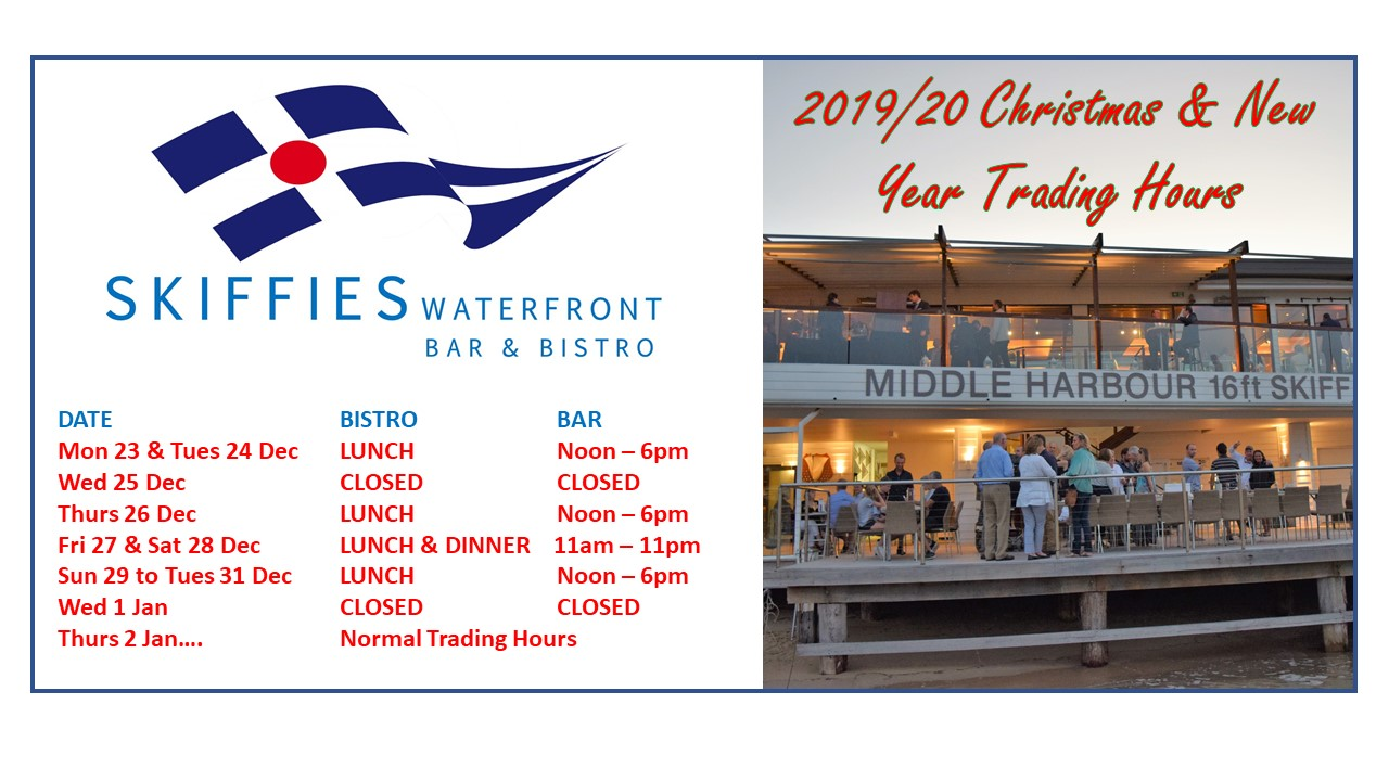 CHRISTMAS & NEW YEAR TRADING HOURS